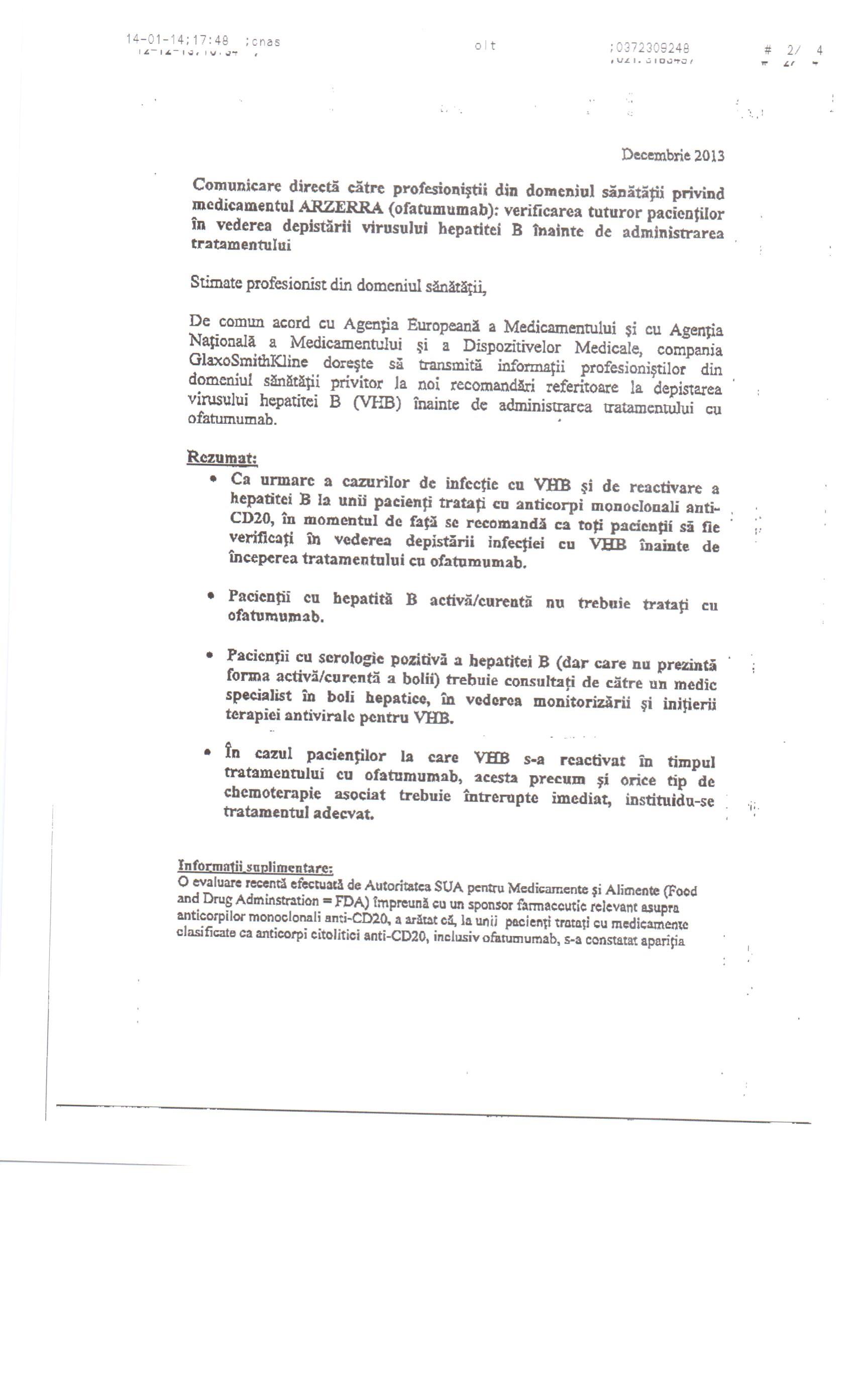 tratament comun în decembrie)