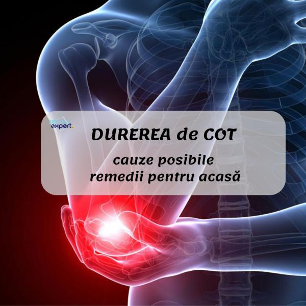durere ascuțită în articulația cotului când este apăsat)
