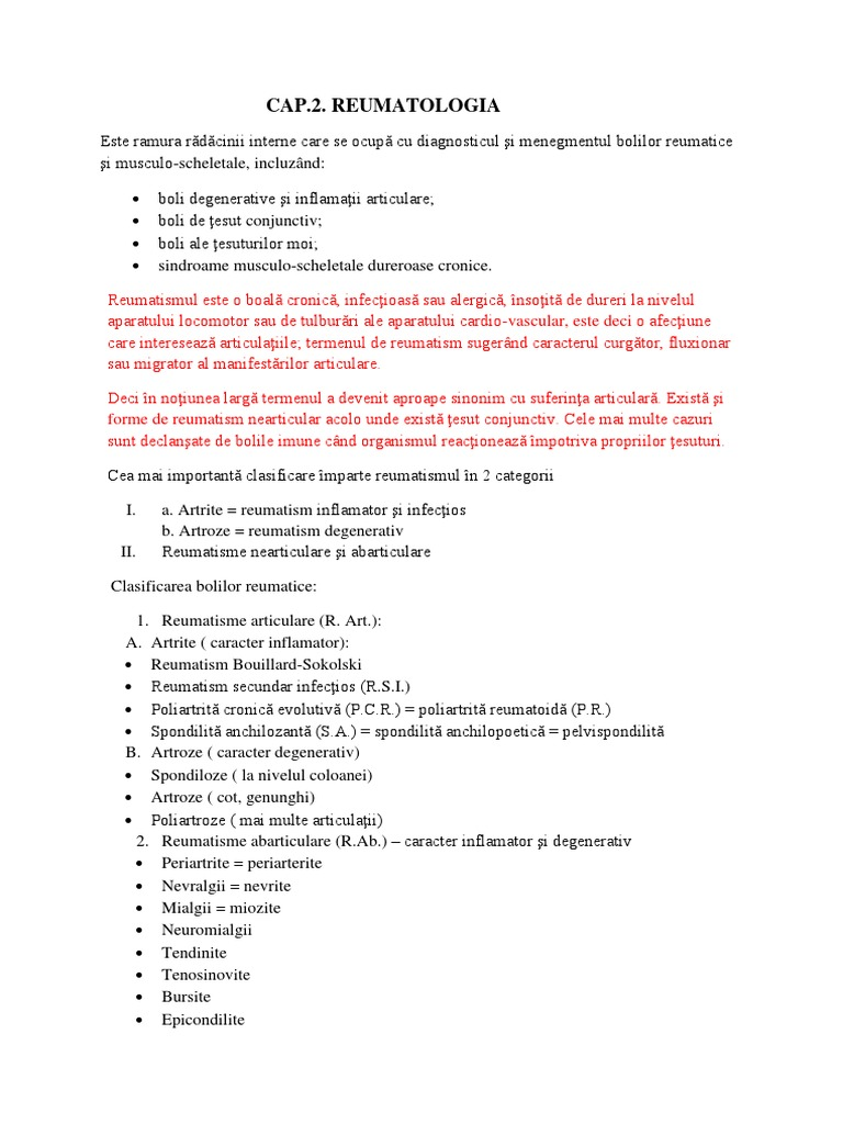 clasificarea bolii degenerative a articulațiilor)
