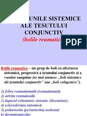 boli sistemice ale țesutului conjunctiv a)