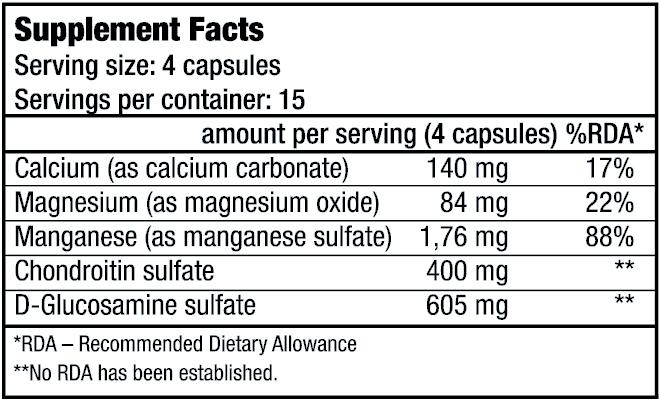 condroitină cu preț de glucozamină în Donețk