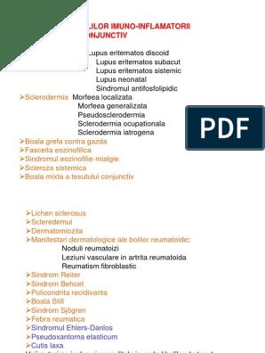 sindrom de inflamație a țesutului conjunctiv)