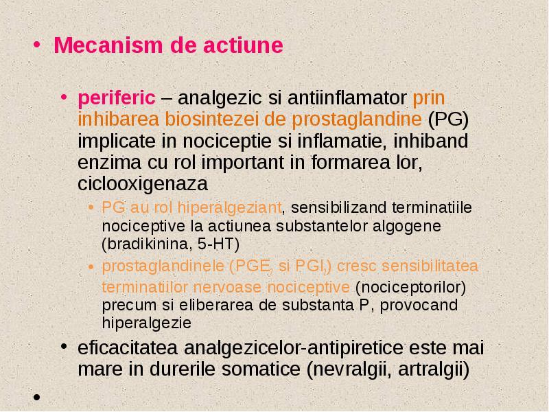 Artralgii analgezice