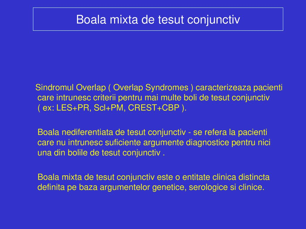 boala nespecifică a țesutului conjunctiv
