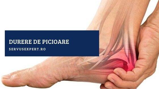 durere ascuțită în articulația piciorului la mers)
