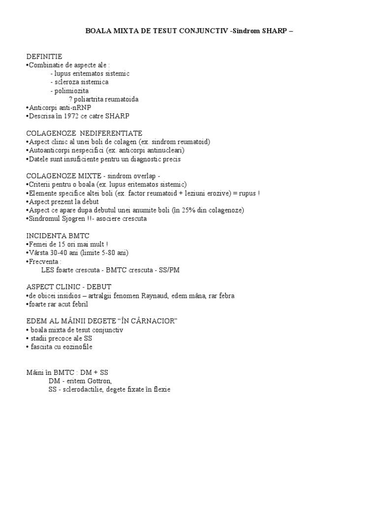 boala nespecifică a țesutului conjunctiv)