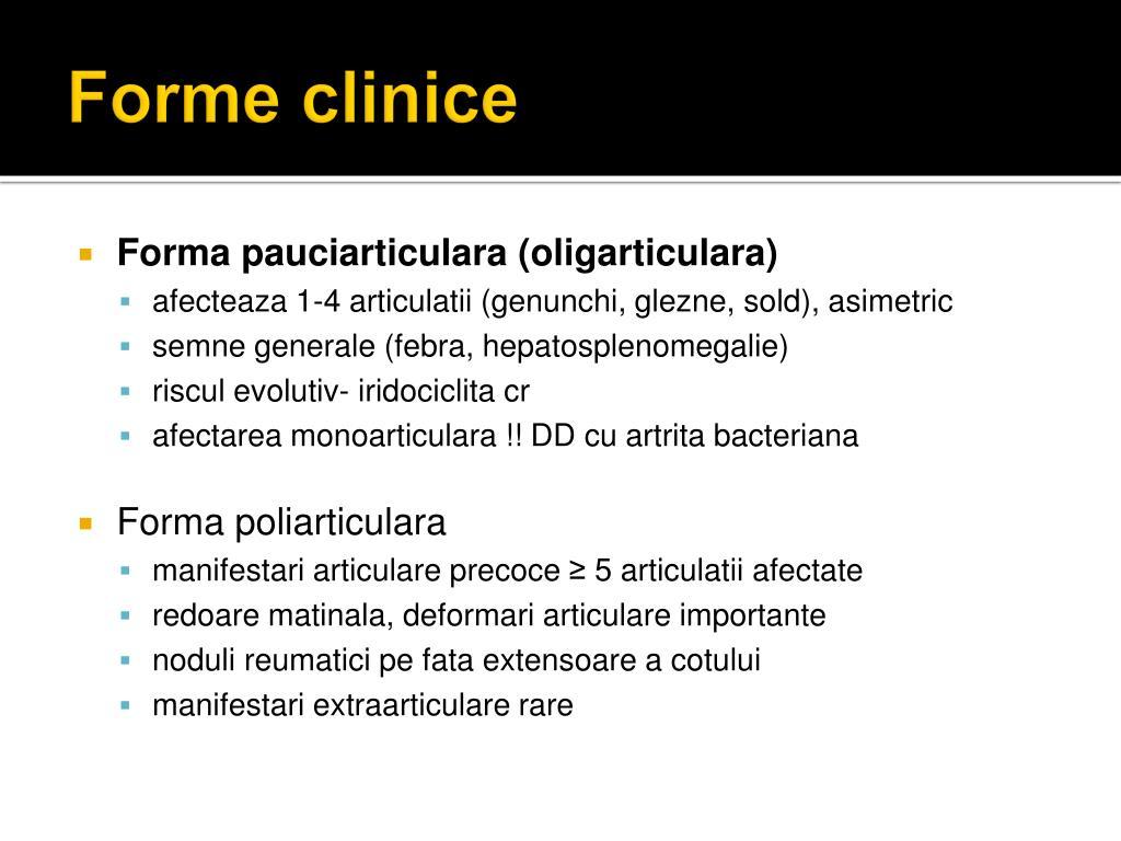 semne locale de inflamație articulară