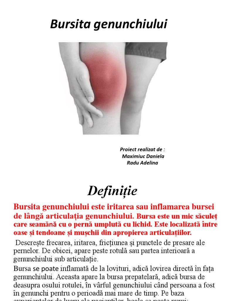 bursita prerotuliana)